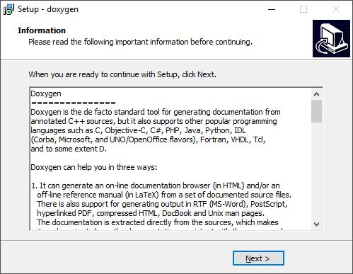 File:Doxygen setup 8 png - ERIKA WIKI